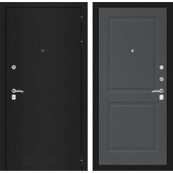 Входная дверь Лабиринт Классик 11 (Шагрень черная / Графит софт)