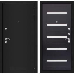 Входная дверь Лабиринт Классик 1 (Шагрень черная / Венге)