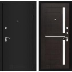 Входная дверь Лабиринт Классик 2 (Шагрень черная / Венге)
