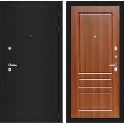 Входная дверь Лабиринт Классик 3 (Шагрень черная / Орех бренди)