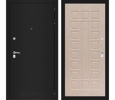 Входная металлическая дверь Лабиринт Классик 4 (Шагрень черная / Дуб беленый)