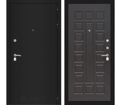 Входная металлическая дверь Лабиринт Классик 4 (Шагрень черная / Венге)