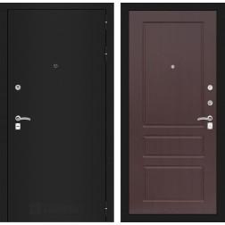 Входная дверь Лабиринт Классик 3 (Шагрень черная / Орех премиум)