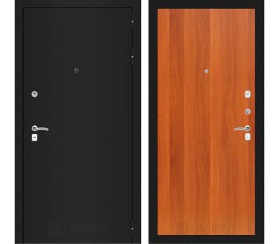 Входная металлическая дверь Лабиринт Классик 5 (Шагрень черная / Итальянский орех)