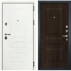 Входная металлическая дверь Лекс Сенатор 3К Шагрень белая (№60 Алмон 28)