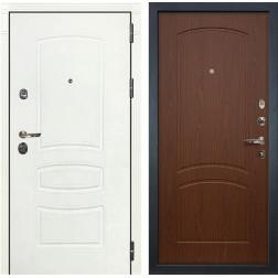 Входная дверь Лекс Сенатор 3К Шагрень белая (№11 Береза мореная)