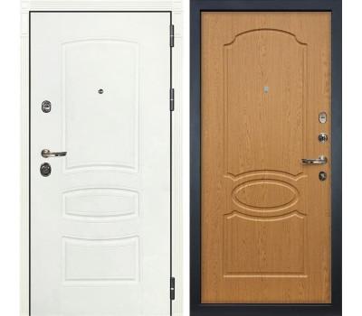Входная дверь Лекс Сенатор 3К Шагрень белая (№15 Дуб натуральный)