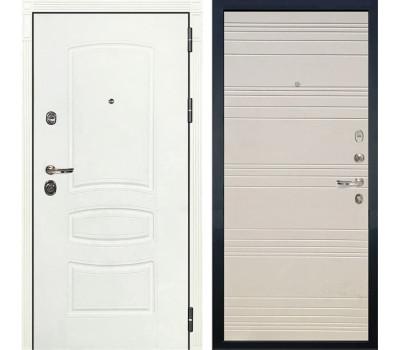 Входная дверь Лекс Сенатор 3К Шагрень белая (№63 Дуб фактурный кремовый)