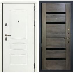 Входная дверь Лекс Сенатор 3К Шагрень белая Неро (№65 Графит шале)