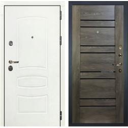 Входная дверь Лекс Сенатор 3К Шагрень белая Терра (№64 Графит шале)