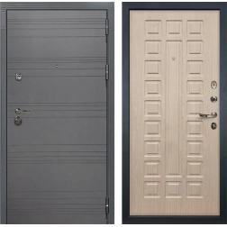 Входная дверь Лекс Сенатор 3К Софт графит (№20 Дуб беленый)