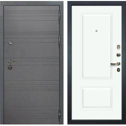 Входная дверь Лекс Сенатор 3К Софт графит Вероника-1 Шпон (№55 Эмаль Белая)