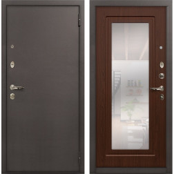 Входная стальная дверь Лекс 1А с Зеркалом (№30 Береза мореная)