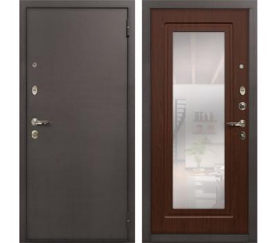 Входная стальная дверь Лекс 1А с Зеркалом (№30 Дуб беленый)