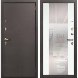 Входная стальная дверь Лекс 1А Стиль с Зеркалом (№61 Ясень белый)