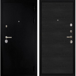 Входная металлическая дверь Дива C-505 (Титан / Черное дерево)