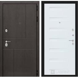 Входная металлическая дверь Лабиринт Урбан 14 (Дуб кантри белый)