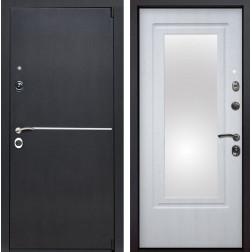 Входная металлическая дверь Римини Зеркало (Венге патина / Белая патина)