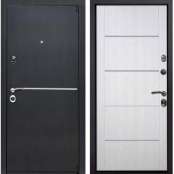Входная металлическая дверь Римини Молдинг (Венге патина / Белая патина)