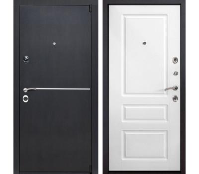 Входная металлическая дверь Римини Неаполь (Венге патина / Белый)