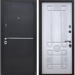 Входная металлическая дверь Римини Рим (Венге патина / Белый с патиной)