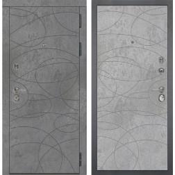 Входная металлическая дверь Дива МД-48 М-4 (Бетон Темный / Бетон Светлый)