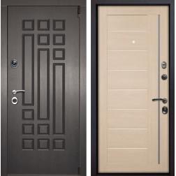 Входная металлическая дверь Милан X17 (Венге патина / Капучино Мелинга)