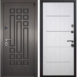 Входная металлическая дверь Милан Молдинг (Венге патина / Белая патина)