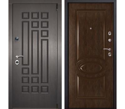 Входная металлическая дверь Милан 70 (Венге патина / Каштан)