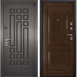 Входная металлическая дверь Милан 71 (Венге патина / Каштан)