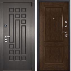 Входная металлическая дверь Милан 72 (Венге патина / Каштан)