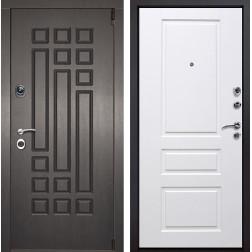 Входная металлическая дверь Милан Версаль (Венге патина / Белый)
