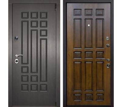Входная металлическая дверь Милан Палермо (Венге патина / Золотой дуб)