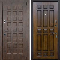 Входная металлическая дверь Верона Палермо (Тиковое дерево / Золотой дуб)