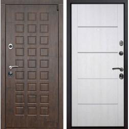 Входная металлическая дверь Верона Молдинг (Тиковое дерево / Белая патина)