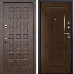 Входная металлическая дверь Верона 71 (Тиковое дерево / Каштан)