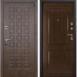 Входная металлическая дверь Верона 72 (Тиковое дерево / Каштан)