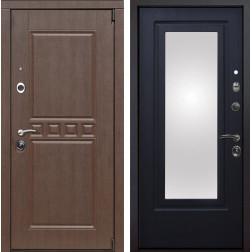 Входная металлическая дверь Сарбона Зеркало (Орех патина / Венге патина)