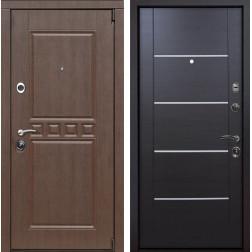 Входная металлическая дверь Сарбона Молдинг (Орех патина / Венге)