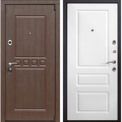 Входная металлическая дверь Сарбона Неаполь (Орех патина / Белый)