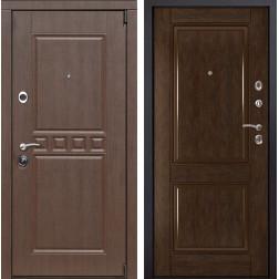 Входная металлическая дверь Сарбона 71 (Орех патина / Каштан)