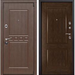 Входная металлическая дверь Сарбона 72 (Орех патина / Каштан)