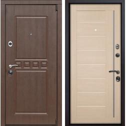 Входная металлическая дверь Сарбона X17 (Орех патина / Капучино Мелинга)