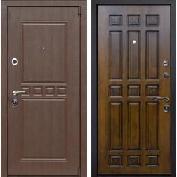Входная металлическая дверь Сарбона Палермо (Орех патина / Золотой дуб)