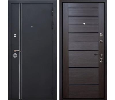Входная металлическая дверь Квадро Лайн X7 (Искра черная / Венге Мелинга)