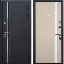 Входная металлическая дверь Квадро Лайн Z6 (Искра черная / Капучино)