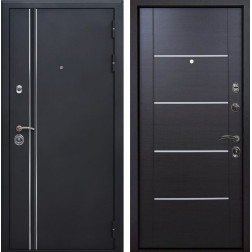 Входная металлическая дверь Квадро Лайн Молдинг (Искра черная / Венге)