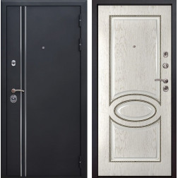 Входная металлическая дверь Квадро Лайн 70 (Искра черная / Капучино)