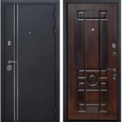 Входная металлическая дверь Квадро Лайн Рим (Искра черная / Темная вишня)