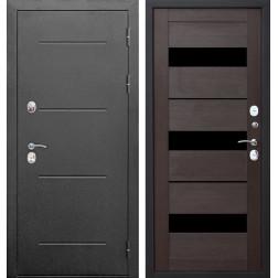 Дверь с терморазрывом Изотерма (Антик серебро / Темный кипарис)